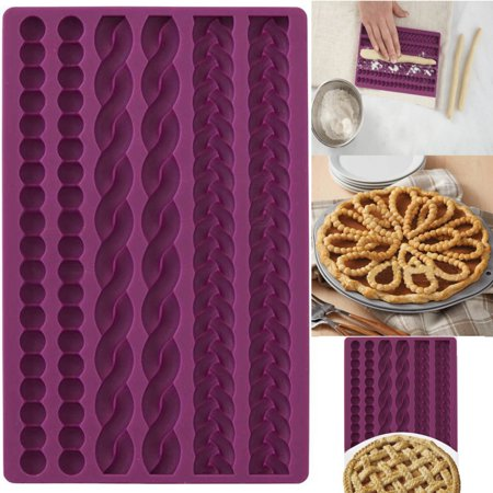 Bestller 3D Knit Rope Silicone Pearl Fondant Mould Cake Border Sugar Icing Gumpaste Decor ()