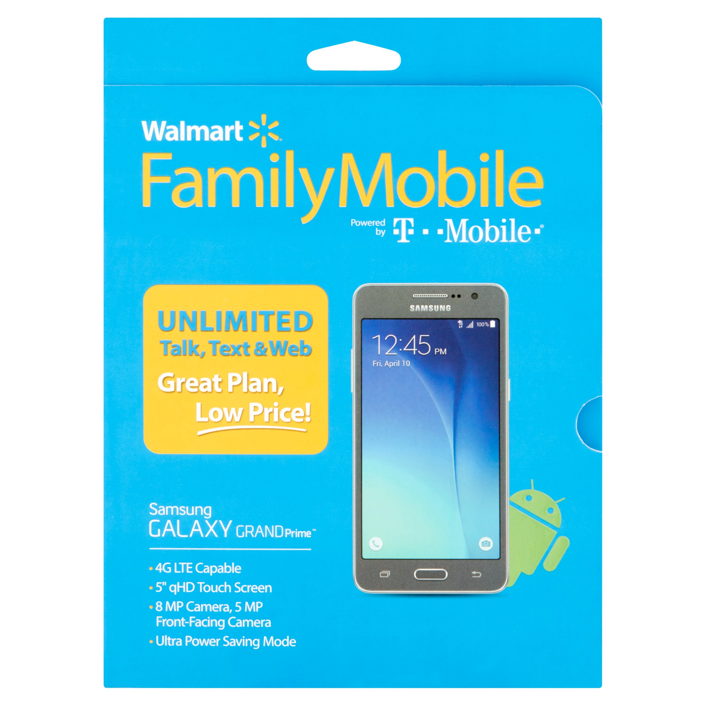 Walmart Family Mobile Samsung Galaxy Grand Prime Smartphone - Gray