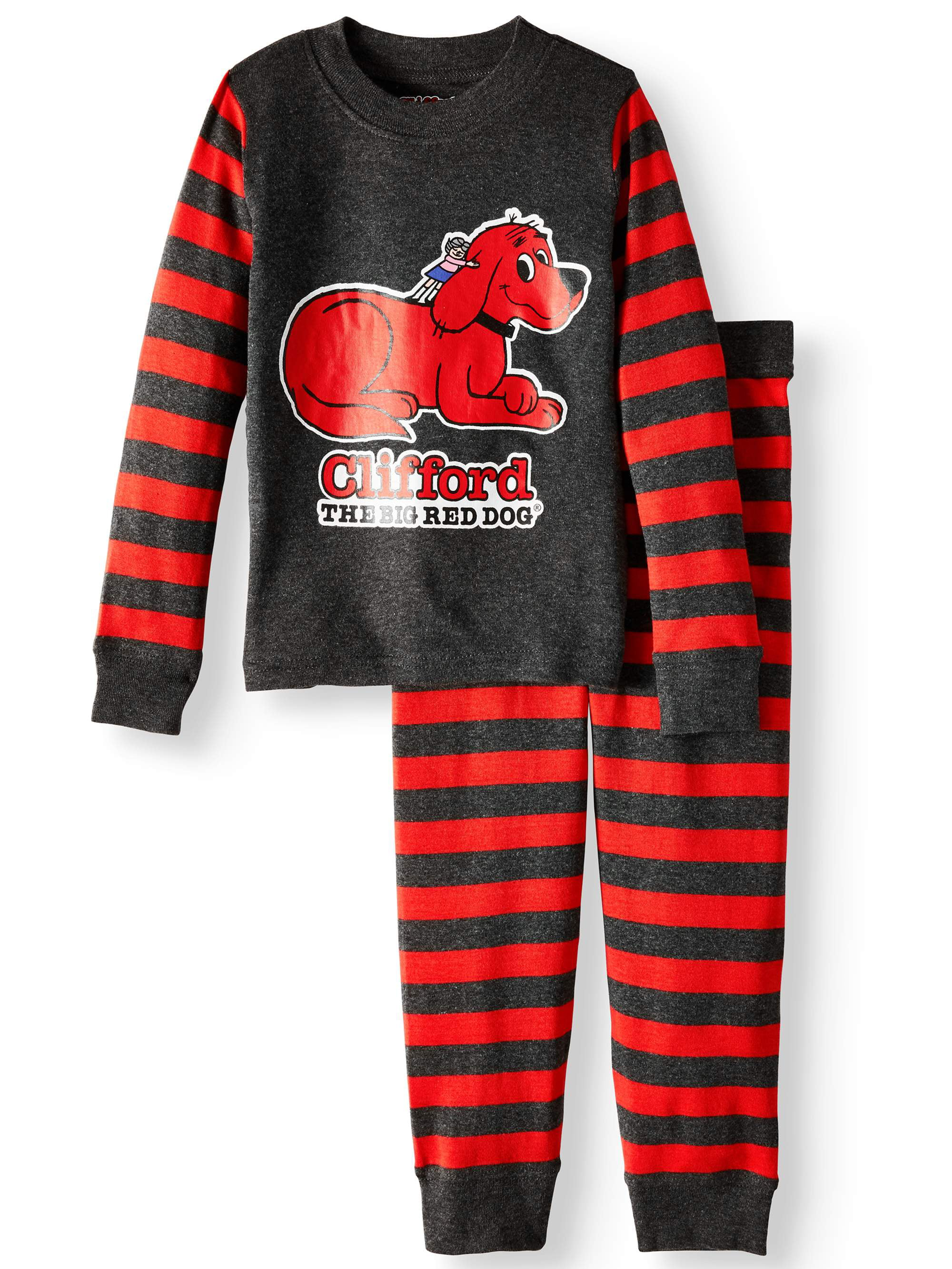 Clifford The Big Red Dog Little Baby Girls Boys Long Sleeve T Shirt Lovely Crew Neck Outfits