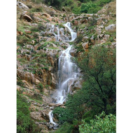 USA, California, San Diego, Mission Trails Regional Park. a Waterfall Print Wall Art By Jaynes Gallery ()