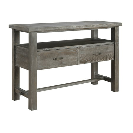 Emerald Home Paladin Rustic Charcoal Gray Buffet with Large Open Shelf And Two Drawers ()