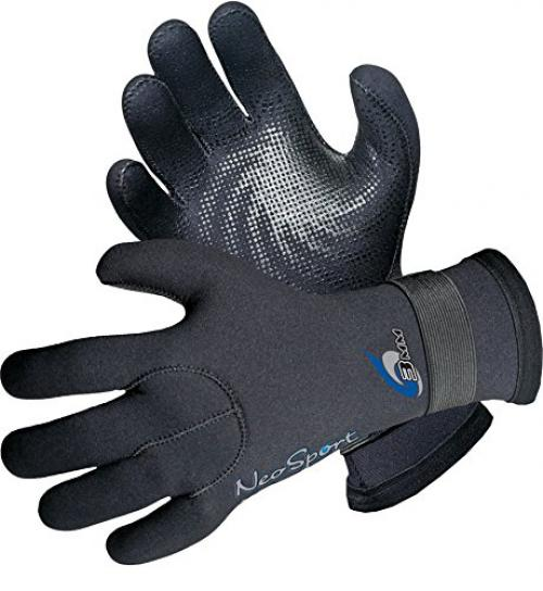 NeoSport Wetsuits Premium Neoprene 3mm Five Finger Glove, Black, XX-Large - Diving, Snorkeling & Waterskiing