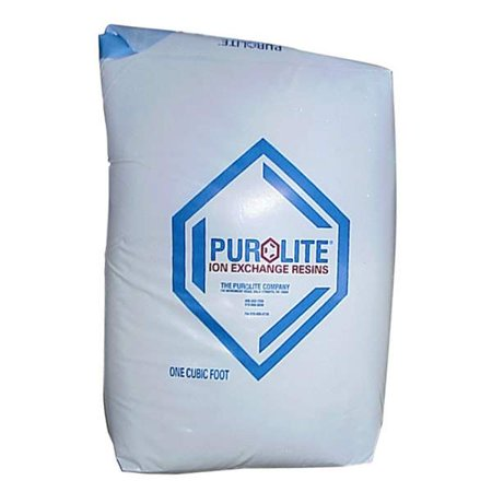 "Purolite (C-100E) Water Softening Resin Media 1 Cubic Foot Bag ""Made in USA"""