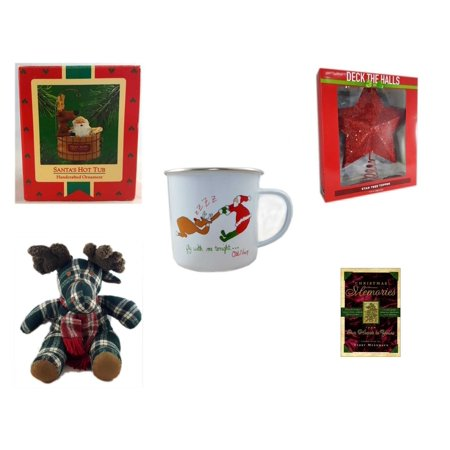 Christmas Fun Gift Bundle [5 Piece] - Hallmark  Tree Ornament Santa