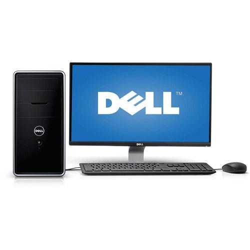 """Dell Black Inspiron 3000 i3847-6924BK Desktop PC with Intel Core i5-4440 Processor, 8GB Memory, 24"""" Monitor, 1TB Hard Drive and Windows 8.1"""