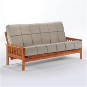 Night and Day Furniture Online LTRI-FUL-HIC Trinity Full Futon Frame - Hickory