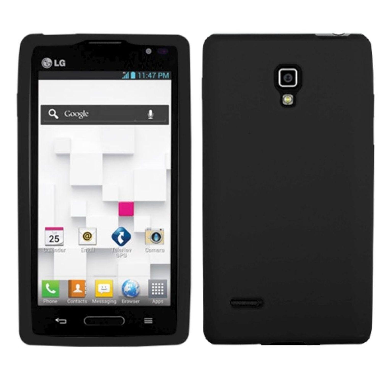 Insten Solid Skin Case (Black) for LG: P769 (Optimus L9)