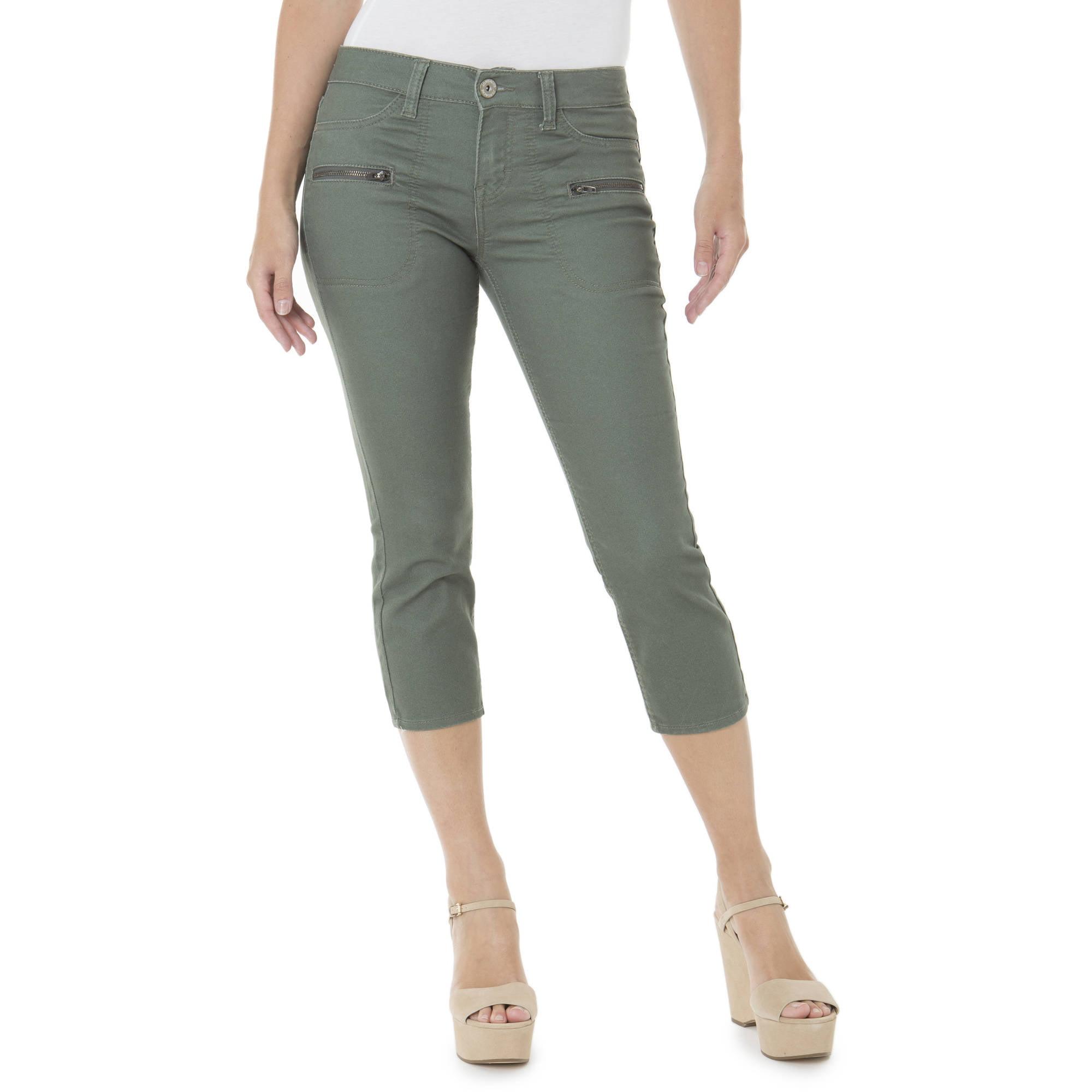 Jordache Women's Moto Capri Jeans - Walmart.com