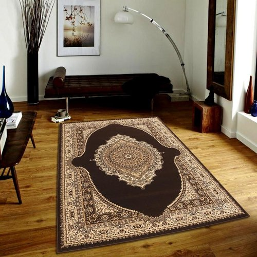 Astoria Grand Gillard Medallion Persian Formal Traditional Brown/Beige Area Rug