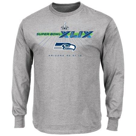 Seattle Seahawks Majestic Nfl Super Bowl Xlix  Step Aside  L S Mens T Shirt