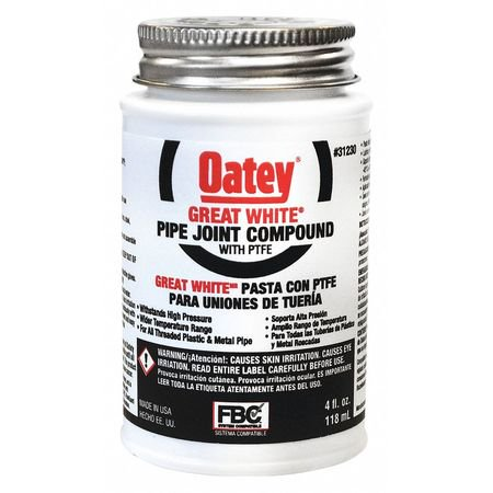 Pipe Joint Compound,4 oz.,White OATEY 31230