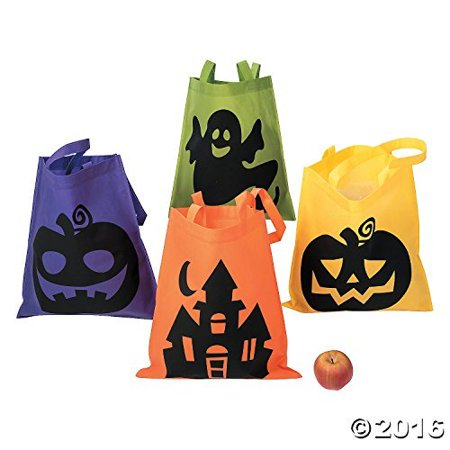 Halloween Tote Bags - 12 Per Order - Large 16 Inch -Ionic Trick or Treat Tote Bags - image 1 de 2