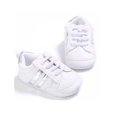 Fashion Baby Sneakers Infant Baby Boys Girls PU Leather Moccasins Soft Sole Prewalker Toddler Casual Shoes