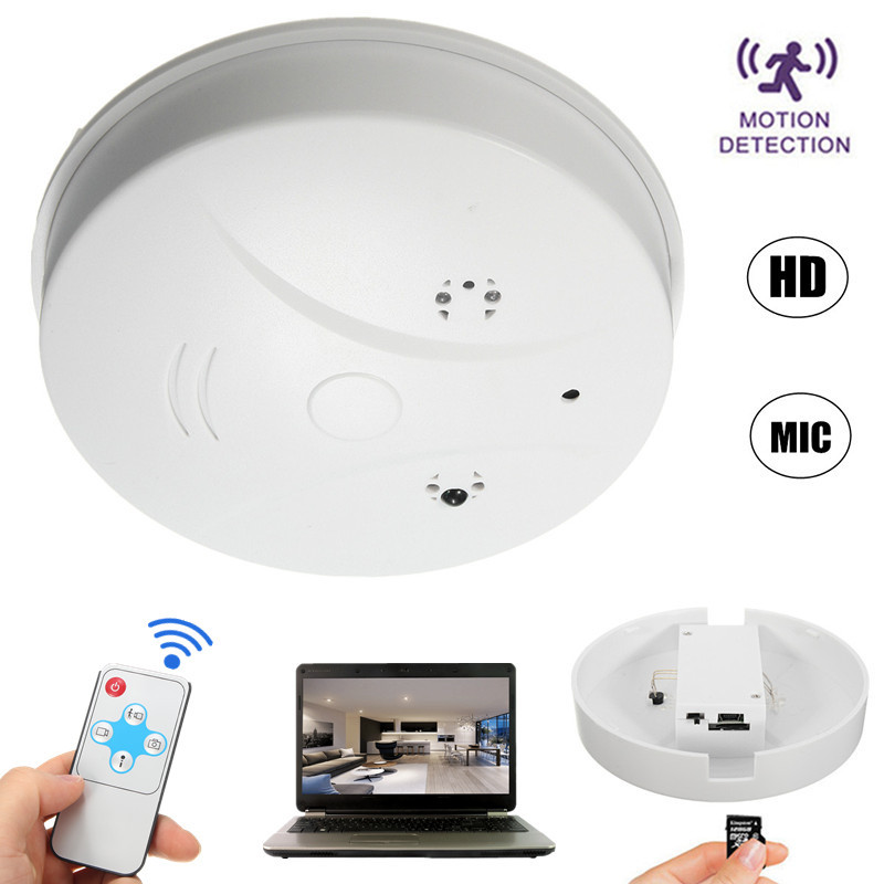 1280x720P HD Mini DVR Hidden Camera Smoke Detector Security Cameras Motion Detection Nanny Cam Sound Digital Video Recorder Camcorder For iOS/Android/PC