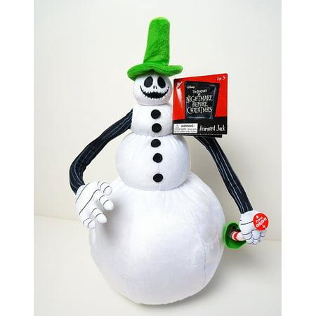Animated Jack Skellington Snowman - Disney Tim Burton's The, Animated Jack Skellington Snowman By Nightmare Before Christmas Ship from US - Halloween Song From Nightmare Before Christmas