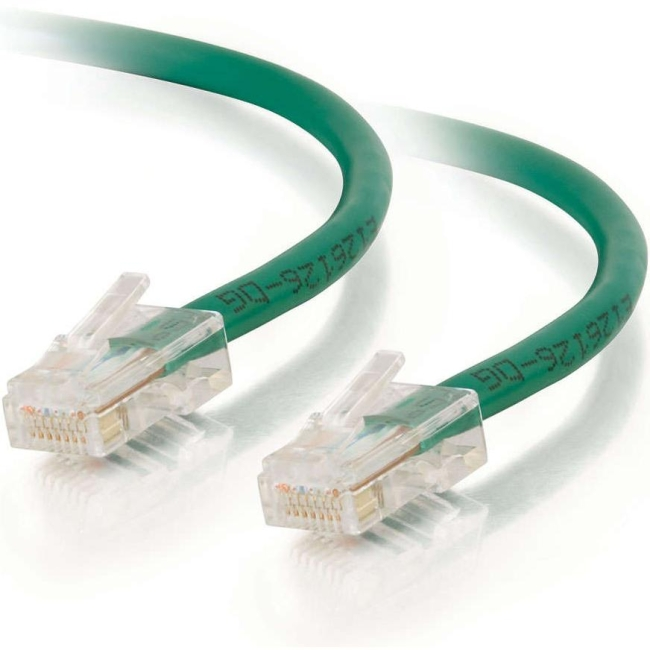 C2G 1ft Cat5e Non-Booted Unshielded (UTP) Network Patch Cable - Green 25070