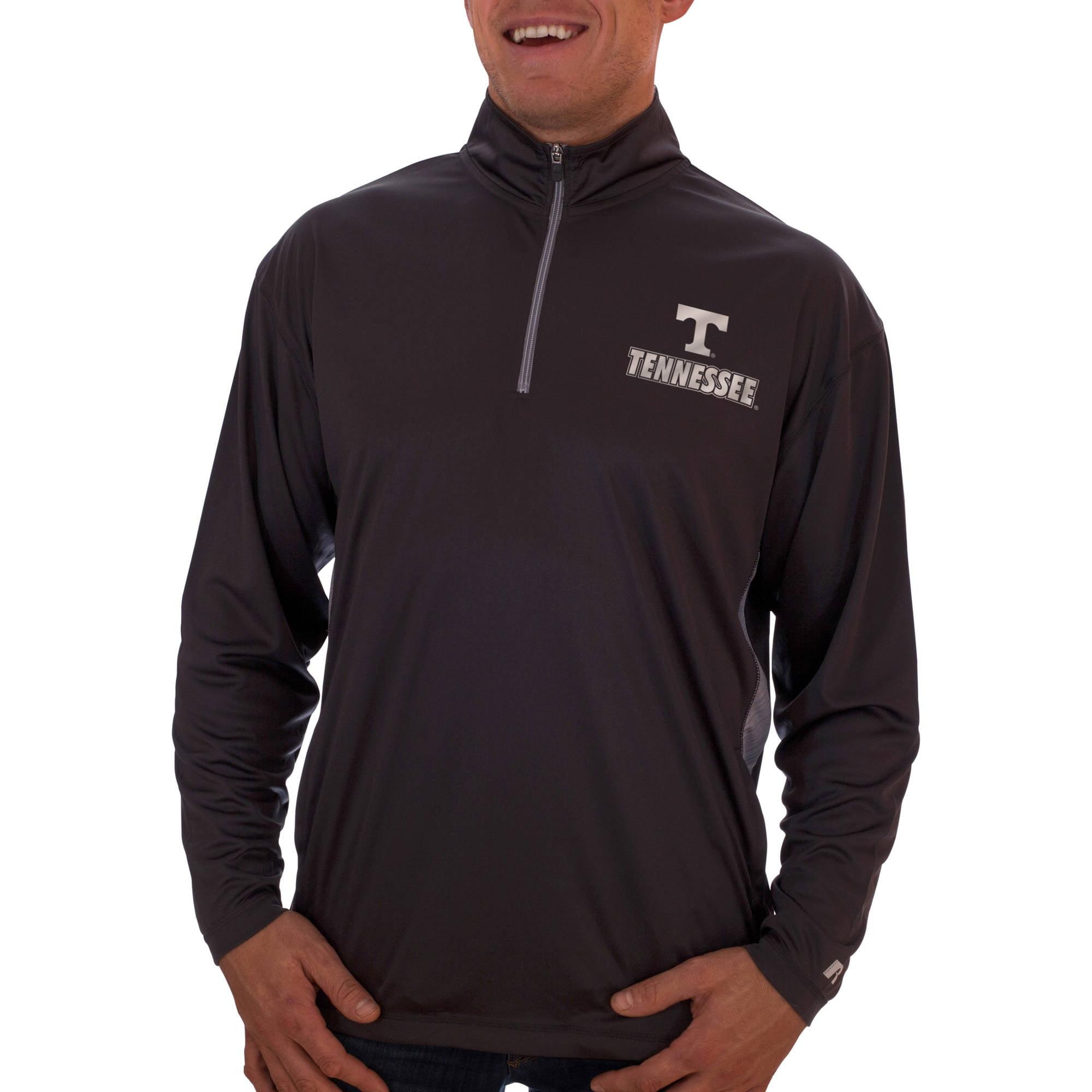 Russell NCAA Tennessee Volunteers Big Men's Athletic Fit Black/ Storm Gray 1/4-Zip Fitness Jacket