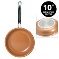 """Kitchen Details Copper Frying Pan 10"""" Non-Stick"""