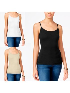 81c4470b03 Product Image 3pc Tank Top Seamless Long Stretch Tunic Slip Camisole  Layering Spandex Cami Tee