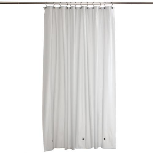 Zenith Frosty Clear Commercial Grade Vinyl Shower Curtain