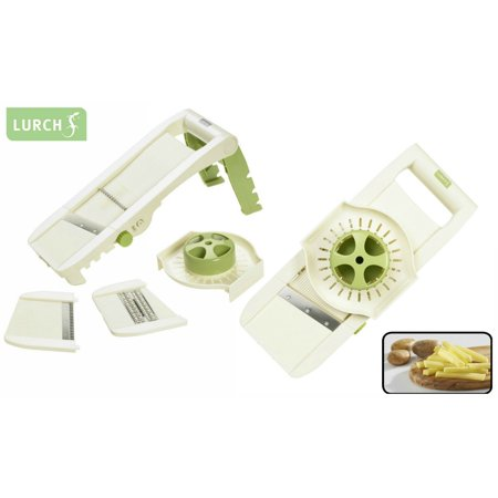 German Lurch 3-in-1 Adjustable Mandoline Food Vegetable Slicer [ Shredder, Crinkle, Julienne Cutter ]