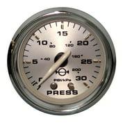 "Faria 19007 Kronos Water Pressure Gauge Kit 30 PSI - 2"""