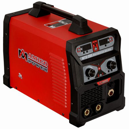 MTS-205, 205 Amp MIG TIG-Torch Stick Arc Combo Welder, Weld Aluminum, 110/230V Dual Voltage
