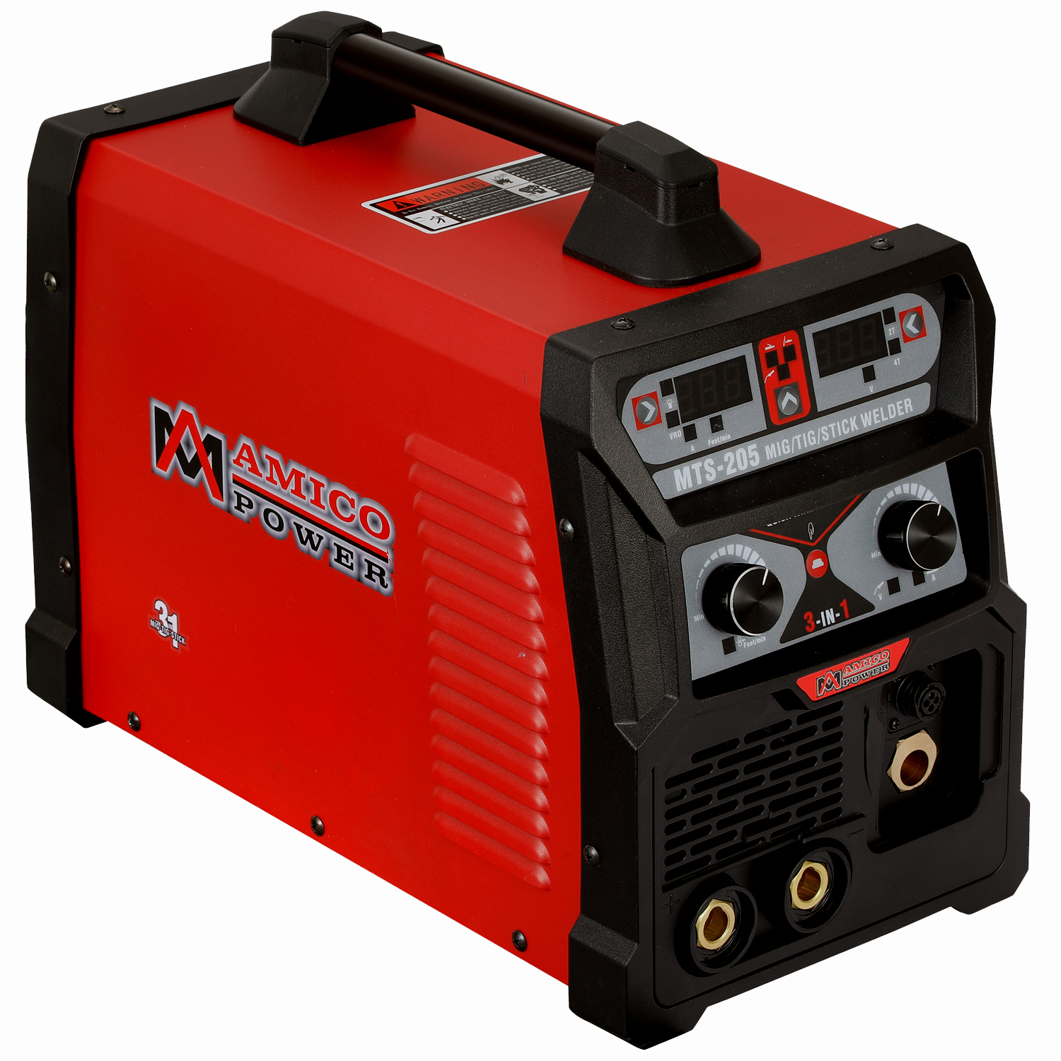MTS-205, 205 Amp MIG TIG-Torch Stick Arc Combo Welder, Weld Aluminum, 110/230V Dual Voltage Welding