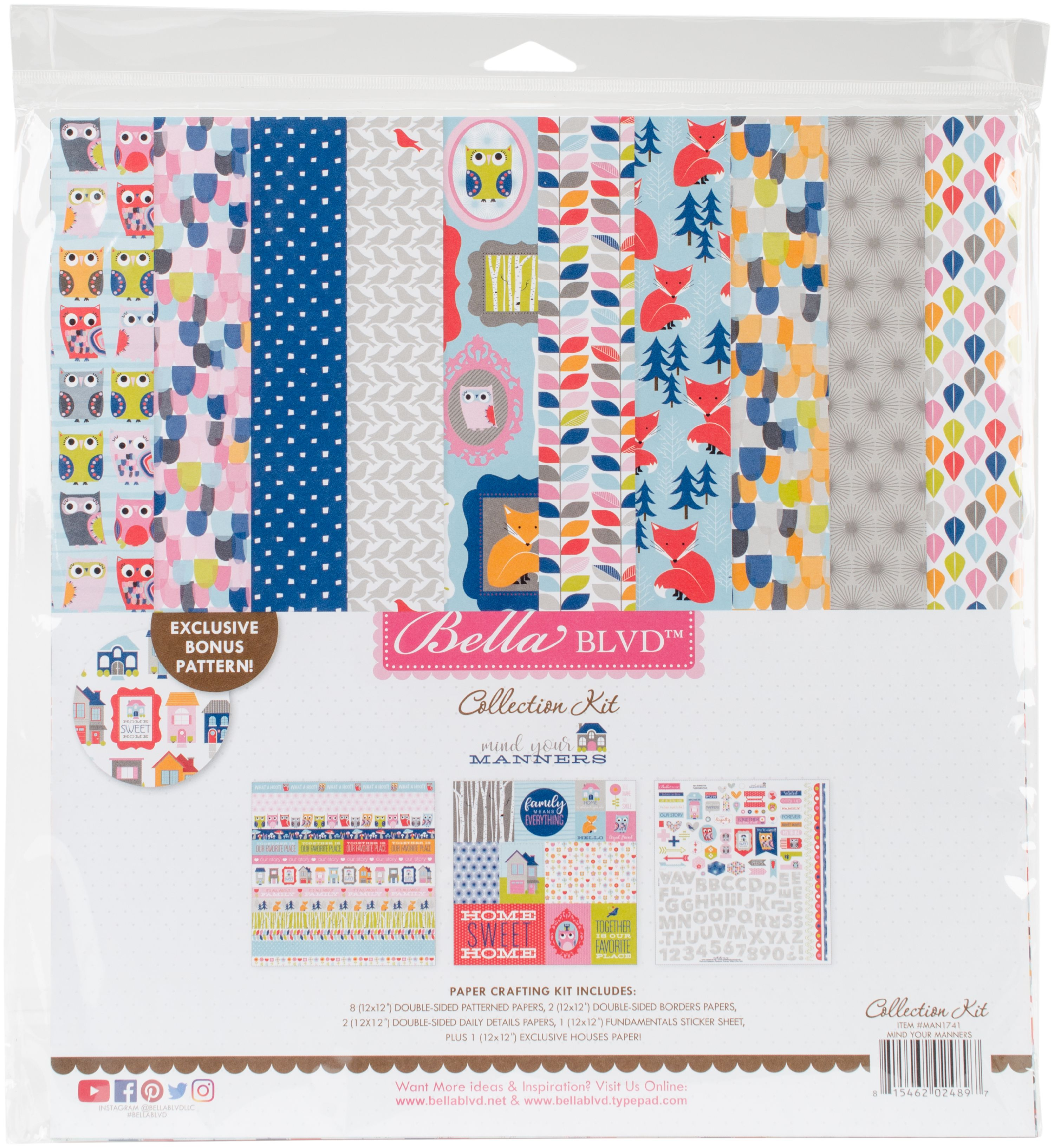 """Bella Blvd Collection Kit 12""""X12""""-Mind Your Manners"""
