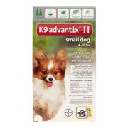 K9 Advantix II Flea and Tick Control Monthly Treatment for Small Dogs, 4 Doses