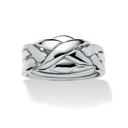 Commitment Symbol Puzzle Ring Platinum-Plated ()