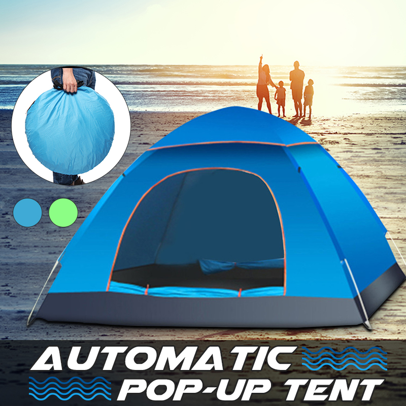 2 3 Person Automatic Camping Tent Anti Uv Sun Shade Canopy