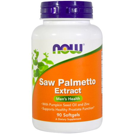 Now Foods, Saw Palmetto Extract, With Pumpkin Seed Oil and Zinc, 160 mg, 90 Softgels(pack of