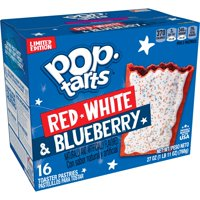 Kellogg's Pop-Tarts, Breakfast Toaster Pastries, Red, White and Blueberry, 27 Oz, 16 Ct