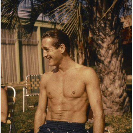 Paul Newman shirtless Photo Print