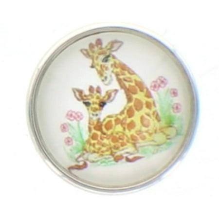 Snap button Giraffe baby  Interchangable Jewelry  18mm