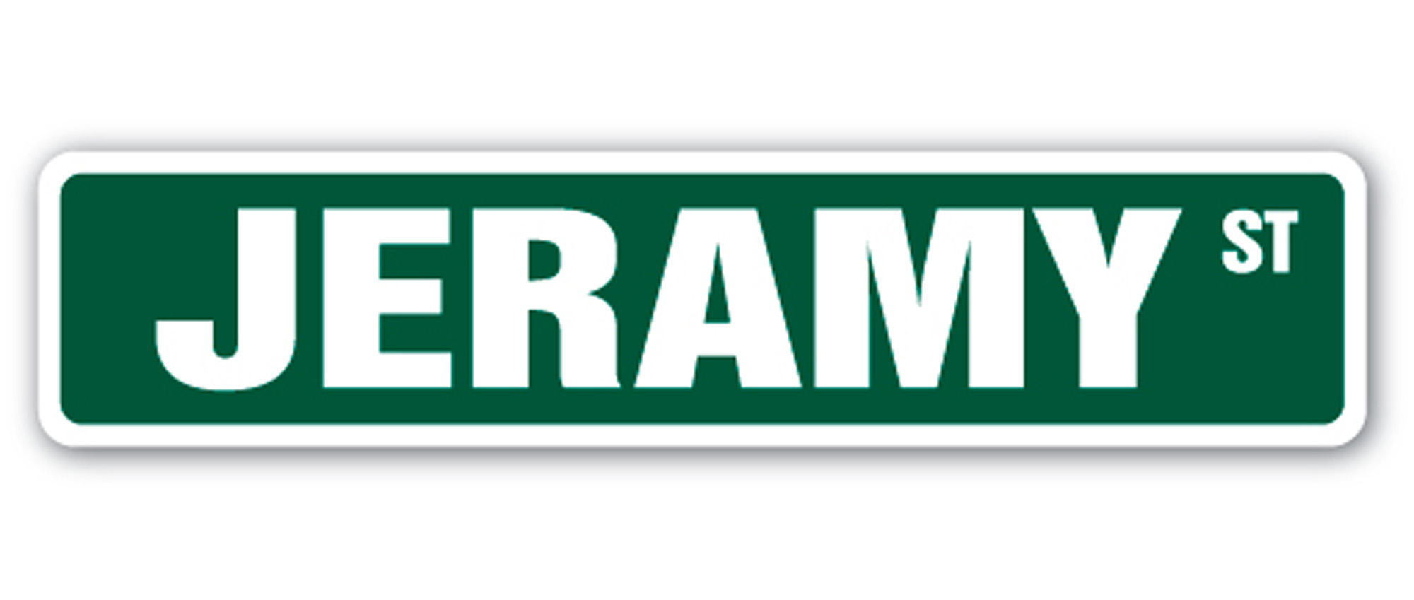 JEREMIAH Street Sign Childrens Name Room Decal Indoor//Outdoor