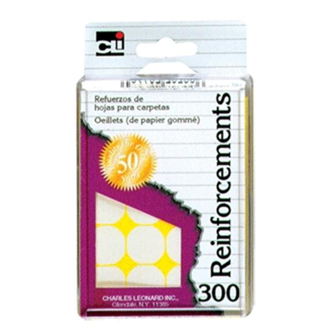 Charles Leonard Reinforcements White 300 Pk 79300 Pack Of 6