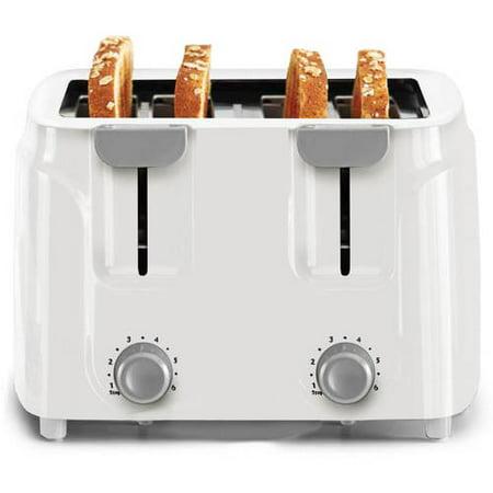Mainstays 4-Slice Toaster, White