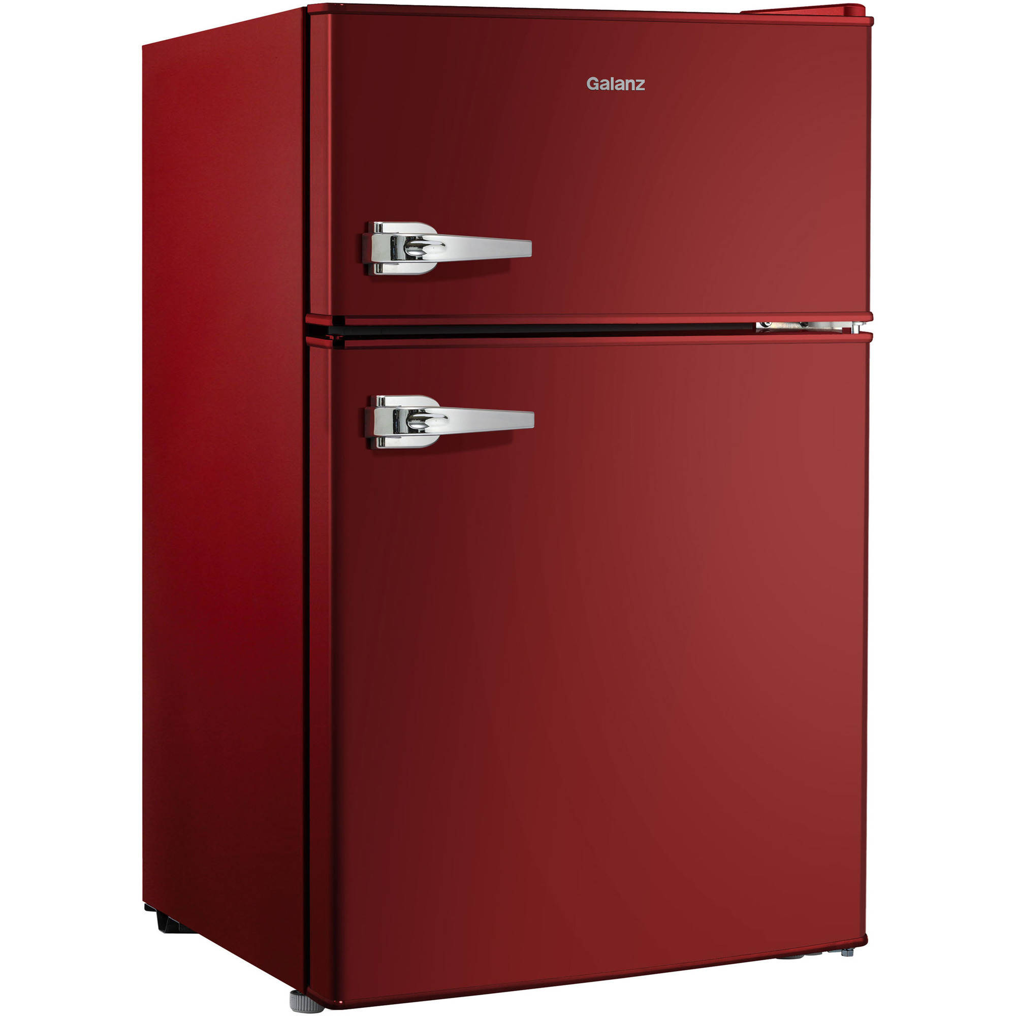 Galanz 3.1 cu ft Double Door Red Door and Cabinet with Retro Door ...