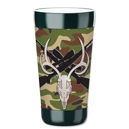 Mugzie 16-Ounce Tumbler Drink Cup with Removable Insulated Wetsuit Cover - Skull & - Skull Halloween Tumblr