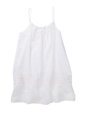 Azul Girls White Adjustable Drawstring Camisole Tunic Cover Up