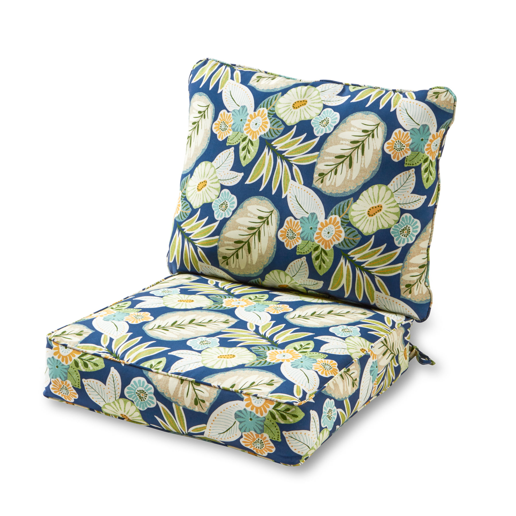 Greendale Home Fashions Marlow Floral Outdoor Deep Seat Cushion Set