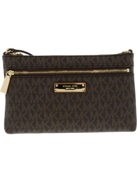 7d513472690f7 Product Image Jet Set Large Wristlet - Brown - 32S7GJSW3B-200. Michael Kors