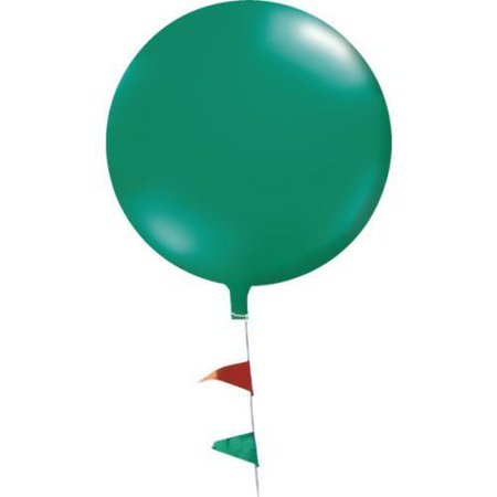 Cloudbuster Balloon with Pennant String, Green, 5-1/2'