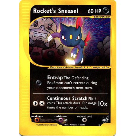 Pokemon Promo Cards Rocket's Sneasel #5 [Best Of