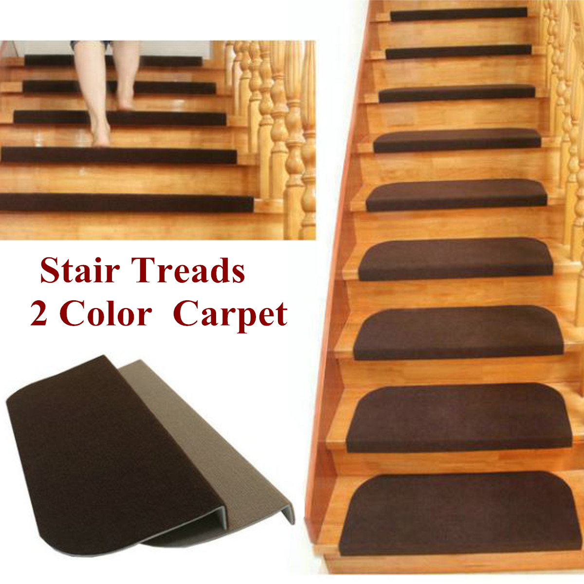 1Pcs Non Slip Carpet Stair Treads Mats Staircase Step Rug Protection Cover  Set