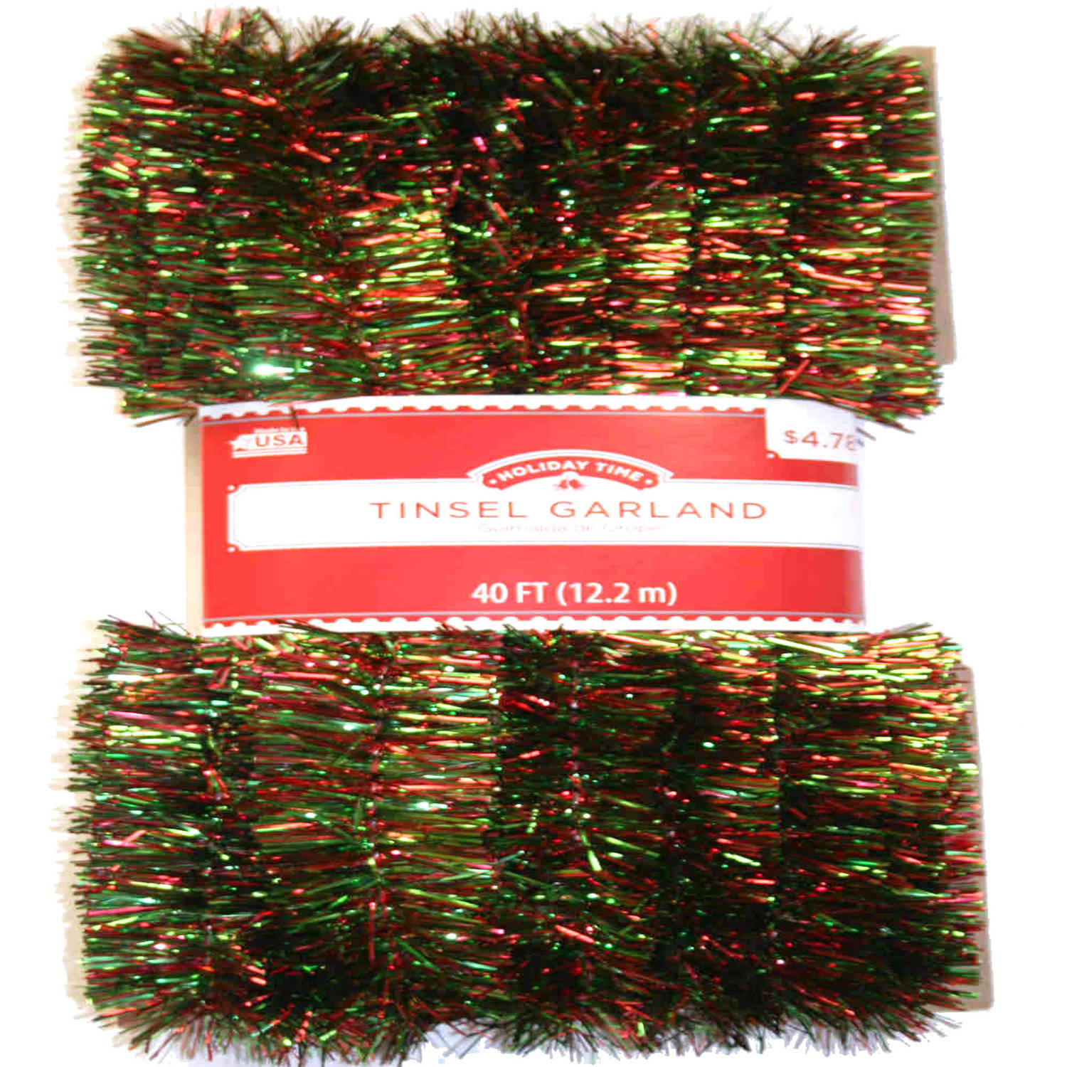 Long Length 40' Red and Green Christmas Garland