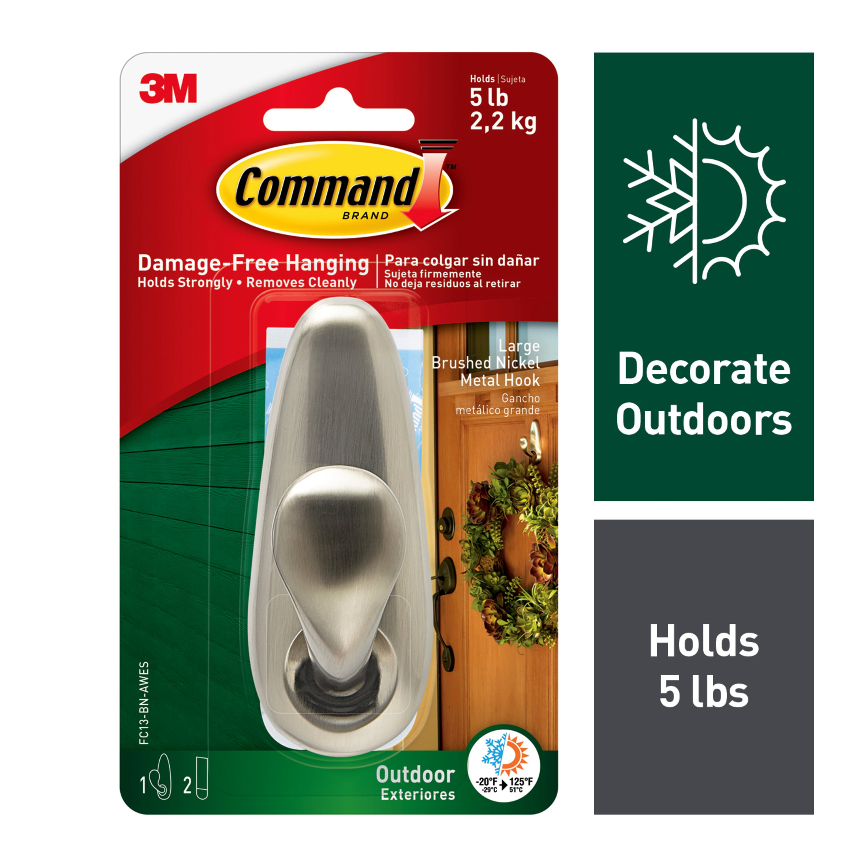 Command Metal Hook Decorate Damage-Free Indoor Use FC13-BN-ES 2 Pack
