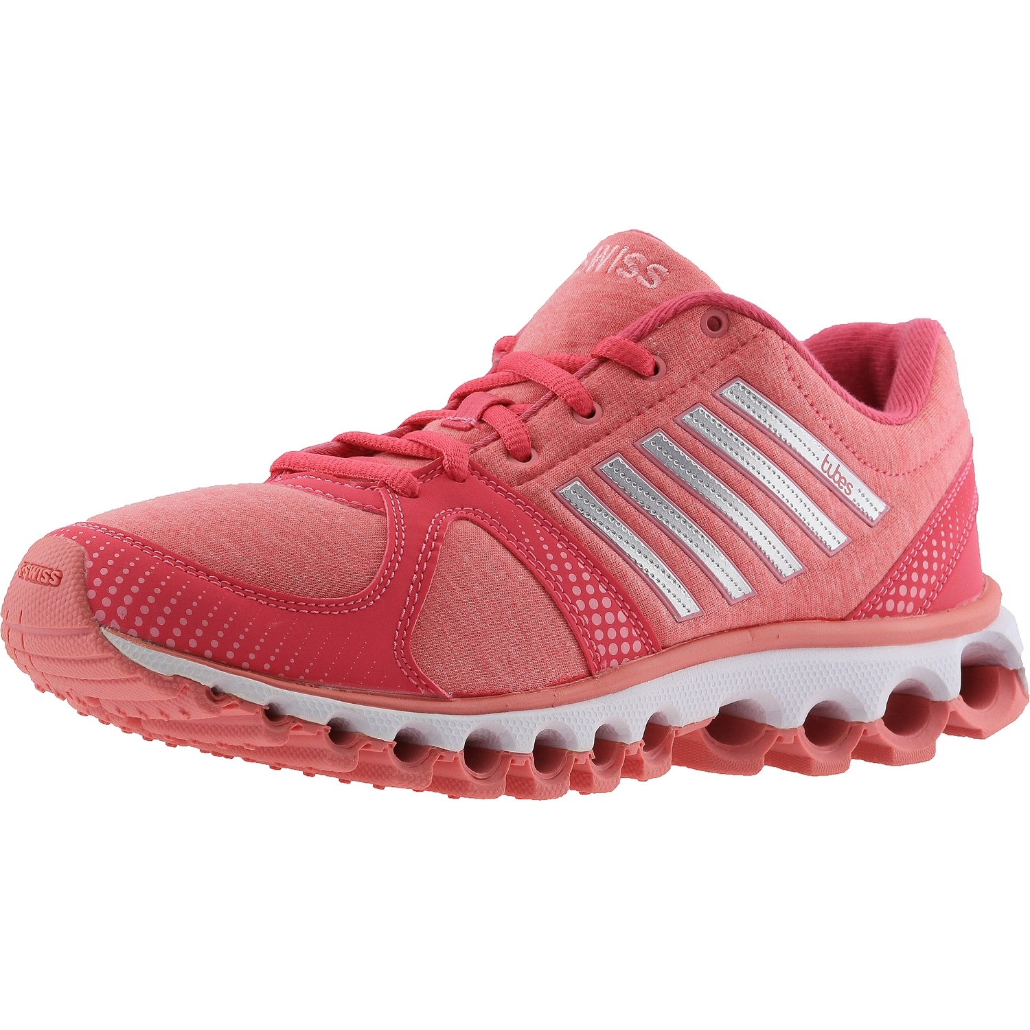 K-Swiss Women's X-160 Heather Cmf Low Honey Suckle / Geranium Pink Ankle-High Fabric Running Shoe - 10M